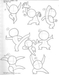 ACTION POSES .:OMI:. by XS-Is-The-Shiz Poses for chibis
