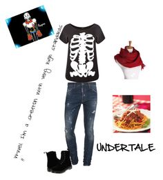 """""""Undertale Papyrus inspired outfit"""" by lazy-cute-diva ❤ liked on Polyvore featuring Dsquared2, Dr. Martens and plus size clothing"""