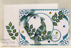 Shirley Ross made this card using Nouveau Peacock.  You can see how http://cardartetc.blogspot.com/2014/07/peacock-nouveau.html