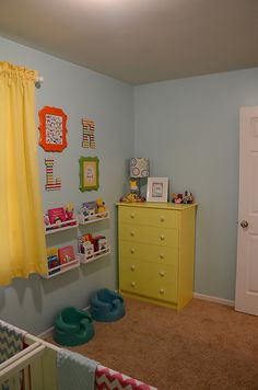 Boy/Girl twin nursery - I think gender neutral bedrooms are good for ALL kids. And to instill a love of nature, lots of green!