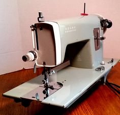 This Japanese-made Kenmore 148.296 is a home sewing machine built in the 1960s, but it blazes through garment leather and thick pads of denim.