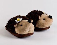 Fuzzy Hedgehog Slippers | Fuzzy Friends Animal Slippers | BunnySlippers.com