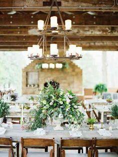 tables de mariage : déco champêtre