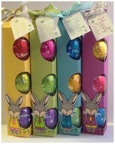 Hi everyone :) Here are the tall Easter Boxes, using the Easter Bunny Stamp of the Month S1702. I just love the end results of this box and I hope that you do too. Here are the measurements, instru…