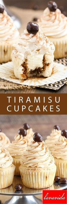 Tiramisu Cupcakes Use these reusable and nonstick baking cups to make these cupcakes. http://amzn.to/2cROdCM