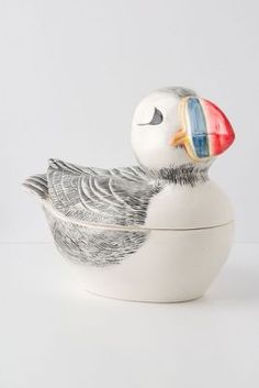 Floating Puffin  Cookie Jar