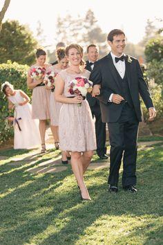 BM dress - Photography: Carlie Statsky Photography - carliestatsky.com  Read More: http://www.stylemepretty.com/little-black-book-blog/2014/06/11/elegant-thomas-fogarty-winery-wedding/