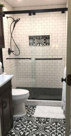 Bathroom Design Trends 2020 for Best ROI - - Bathroom Design Trends for best ROI, whether selling your home or not, it's always a good idea to check out the latest bathroom design, color trends and decor trends. Latest Bathroom Designs, Bathroom Design Small, Modern Bathroom, Simple Bathroom, Bathroom Black, Modern Shower, Beautiful Bathrooms, Black Bath, Neutral Bathroom