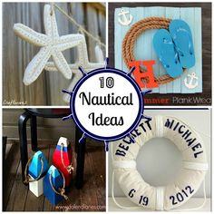 10 Nautical Decorating Ideas #nautical #DIY #decorating