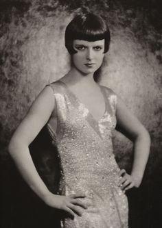Louise Brooks - sassy and stylish - great combination.