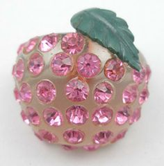 Forbidden Fruit Peach Brooch - Garden Party Collection Vintage Jewelry