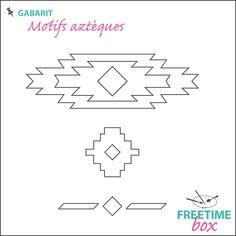 Tuto DIY - Pas à pas - Gabarit motifs aztèques pour customisation d'espadrilles en flock