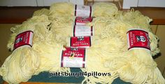 12  - Aunt Lydia's - Lt. Yellow Rug Yarn - 221 Or 505 - Rayon & Cotton by pittsburgh4pillows on Etsy