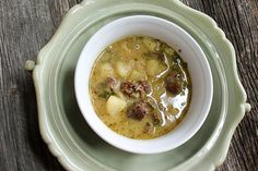 Dairy Free Sausage Potato Chowder - AIP replace potatoes with sweet potatoes Coconut Recipes, Real Food Recipes, Snack Recipes, Paleo Recipes, Creamy Potato Soup, Sausage Potatoes, Paleo Soup, Dairy Free, Gluten Free