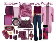 Smokey Summer or Winter by prettyyourworld on Polyvore featuring Glamorous, Boohoo, Vibrant, FOSSIL, Vintage, INC International Concepts, Fraas, Philosophy di Alberta Ferretti, shu uemura and MAC Cosmetics