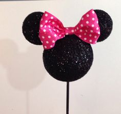 HEAD ONLY with bow. Custom Minnie Mouse by ArisPaperClouds on Etsy, $8.00