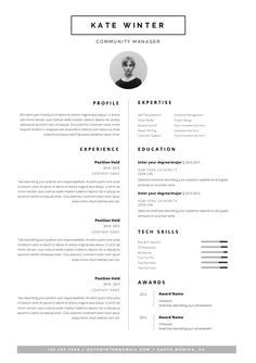 ▌ PROMO CODE: 2 resumes for 24$ USD, use code 2FOR24 ▌   Welcome to Odd Bits Studio. A graphic design boutique that helps you make a memorable impression when applying for your dream career. A concept committed to blend elegance, functionality and the lifestyle of a true modern muse. All products are designed to inspire, to fascinate and allure. Top of the game status guaranteed. ……………………………………………………………………………………………………………………   Download this template pack for a tasteful & professionally…