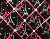 Black, Hot Pink and Zebra Paris Photo Memory Board