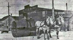Early snow plows basically packed the snow to allow for easier travel via horse-drawn vehicles.