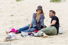 Blake Lively strips down to a bikini top with baby James and Ryan Reynolds | Daily Mail Online