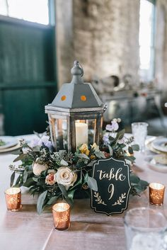 Simple Wedding Centerpieces, Lantern Centerpieces, Wedding Reception Decorations, Floral Centerpieces, Quinceanera Centerpieces, Centrepieces, Christmas Wedding, Fall Wedding, Rustic Wedding
