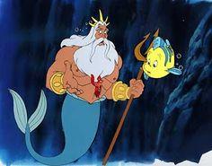 The Little Mermaid Ariel Flounder Sebastian | Greek God King Triton, Ariel's father.