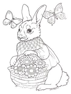 Easter egg mural girl bunny Make your world more colorful with free printable coloring pages from italks. Our free coloring pages for adults and kids. Easter Coloring Pages, Cute Coloring Pages, Free Coloring, Adult Coloring Pages, Coloring Pages For Kids, Coloring Books, Easter Art, Easter Eggs, Easter Activities