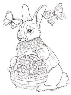 Easter egg mural girl bunny
