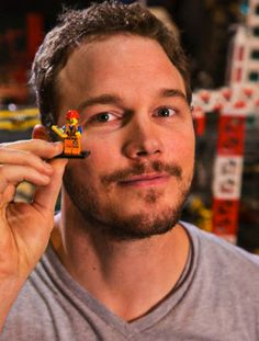 Chris Pratt and His Lego Movie Character