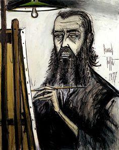 Autoportrait - 1981 huile sur toile - 130 x 97 cm