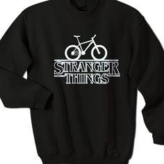 Stranger Things Sweatshirt Small Black * Fabric : 100% preshrunk cotton…