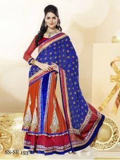 Hot Designer Girlish Style Party Wear Sari
