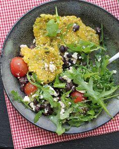 Salad Recipes : Poblano Sopes with Avocado Salad Recipe