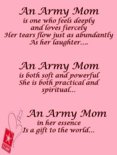 My mom served in the U.S. Army.
