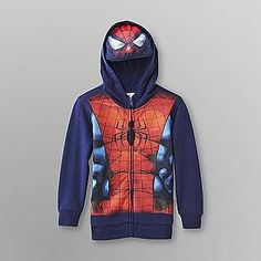 size 7 Marvel Comics- -Boy's Costume Hoodie Jacket - Spider-Man