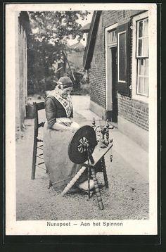 Vrouw aan het spinnewiel, Nunspeet