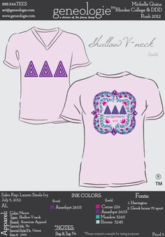 that awkward moment when tri delta is on a quat shirt....