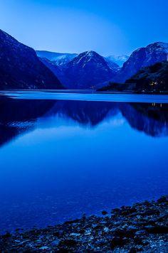 I dream !! by Karanveer Singh Sodhi. #blue #fjord #Norway
