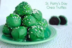 St Pattys Day Oreo Truffles