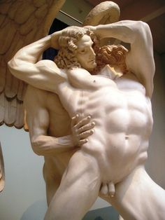 Hendrik Christian Andersen (Norwegian-American, 1872-1940), Jacob and the Angel (detail), 1911.