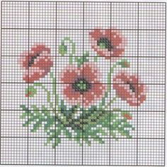 miniature needlework chart for pincushion Cross Stitch Cards, Cross Stitch Flowers, Cross Stitch Kits, Cross Stitch Embroidery, Cross Stitch Patterns, Fabric Yarn, Quilt Stitching, Loom Beading, Needlework