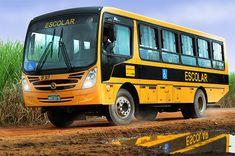 Mercedes Benz vende para o Governo Federal 2 600 unidades do modelo do ônibus escolar rural OF 1519 R no Programa Caminho da Escola. Veículo possui itens para trafegar tranquilamente em terrenos acidentados, sem pavimento e até alagados. Foto: Divulgação – Mercedes Benz