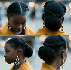 oyinhandmade:  Loving this sleek updo w/braids and a bun! #Repost @sashabasha2 ・・・ Throwback to this look http://ift.tt/1QTYTiB