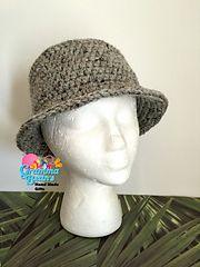 Fun Flat #tophat #crochetpattern by Gramma Beans #madmadmakers #handmade #fishinghat #derby #bolo #widebrim