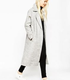 ASOS Coat With Batwing Sleeve in Midi Length