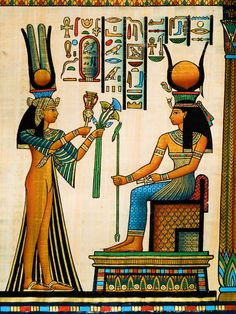 Egyptian papyrus art love the art wish I could afford to have a room with the stuff I love   lol would have to be a big room....a real big room
