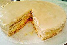 Bananen Kuchen mit Baileys und weißer Schokolade 10