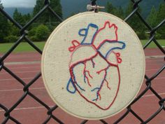 Hey, I found this really awesome Etsy listing at https://www.etsy.com/listing/153785524/human-heart-embroidery-hoop-art