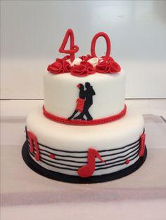 Pretty 50th birthday cake, ballroom dancing themed ...