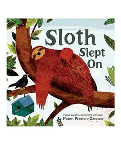 Look at this #zulilyfind! Sloth Slept On Hardcover #zulilyfinds